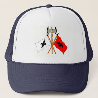 floats the raven banner oer us trucker hat