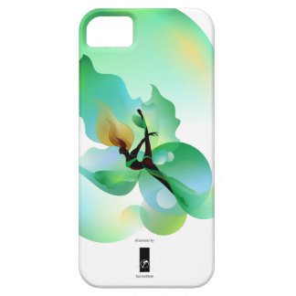 floaty green leaf iPhone SE/5/5s case