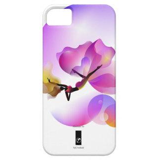 Floaty illustrate purple flower iPhone SE/5/5s case
