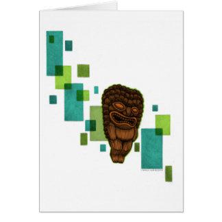 Floaty Tiki Greeting Card