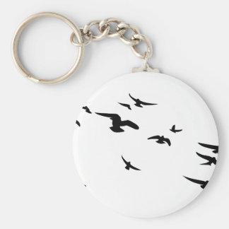 Flock Birds Key Chains