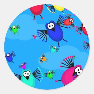 Flock of Birds Classic Round Sticker