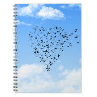 Flock of Birds Love Heart Journal
