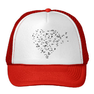 Flock of Birds Love Heart Trucker Hat