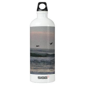 Flock of Birds over the Atlantic Aluminum Water Bottle