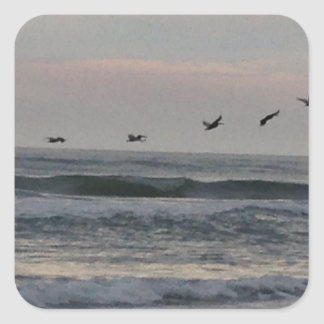 Flock of Birds over the Atlantic Square Sticker