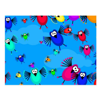 Flock of Birds Postcard