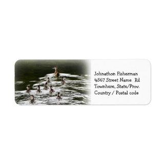Flock of Ducklings Return Address Label