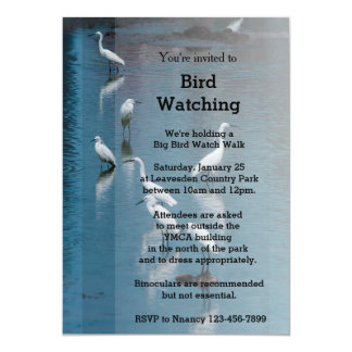 Flock of Egrets/Bird Watching or Retirement Invite