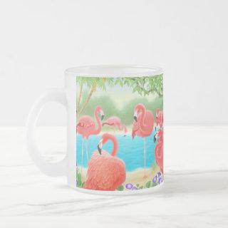 Flock of Flamingos Glass Mug