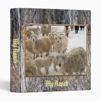 Flock of Goats 3 Ring Binder