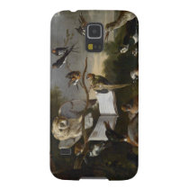 Flock of musical birds painting galaxy s5 cover