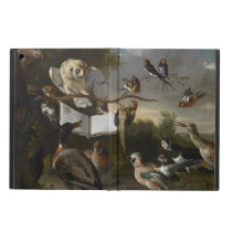 Flock of musical birds painting iPad air cover