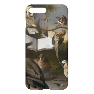 Flock of musical birds painting iPhone 7 plus case