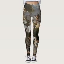 Flock of musical birds painting leggings