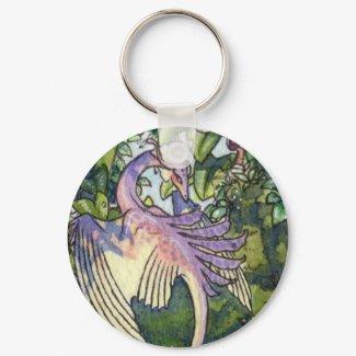 Flock of Orchid wyverns keychain 1 keychain
