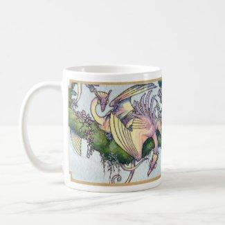 Flock of Orchid wyverns mug 2 mug