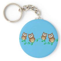 flock of owls keychain
