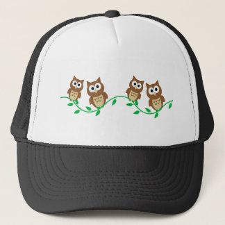 flock of owls trucker hat
