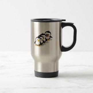 Flock of Penguins 15 Oz Stainless Steel Travel Mug