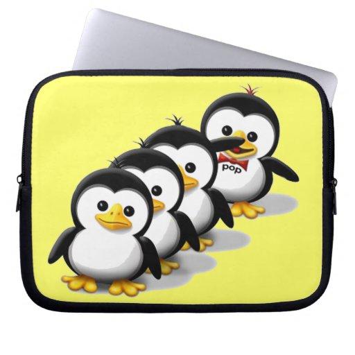 Flock of Penguins Laptop Computer Sleeves