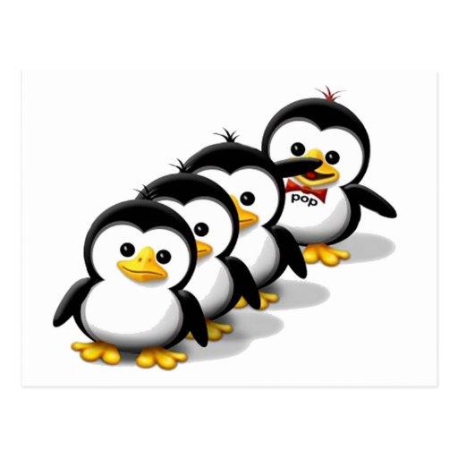 Flock of Penguins Postcard