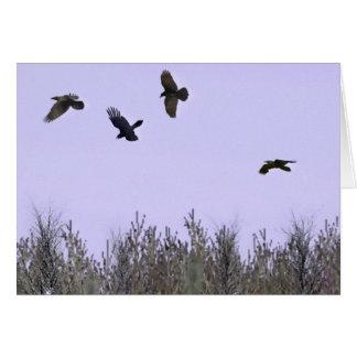 Flock of Ravens Greeting Card