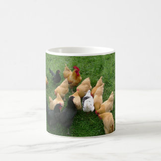 Flock of Roosters Hens Chickens Coffee Mug