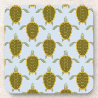 Flock Of Sea Turtles Pattern Beverage Coaster
