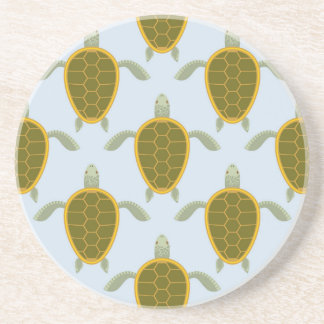 Flock Of Sea Turtles Pattern Drink Coaster
