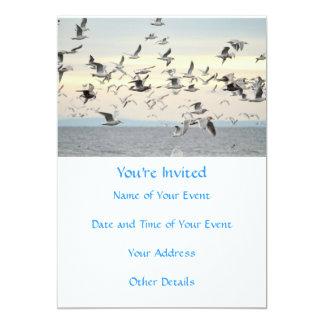 Flock of Seagulls Photo 5x7 Paper Invitation Card