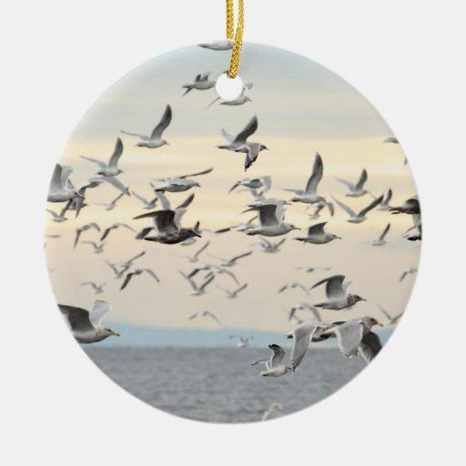 Flock of Seagulls Photo Ornament