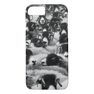 Flock of Sheep Black and White iPhone 7 Case