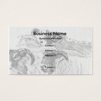 Flock of Sheep Drawing Business Cards