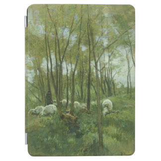Flock of sheep in a forest, Anton Mauve iPad Air Cover