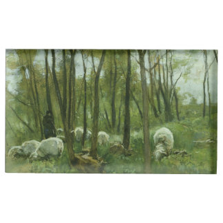 Flock of sheep in a forest, Anton Mauve Table Number Holder