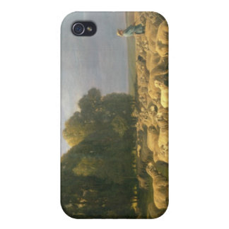 Flock of Sheep in a Landscape iPhone 4/4S Cover