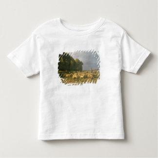 Flock of Sheep in a Landscape Toddler T-shirt