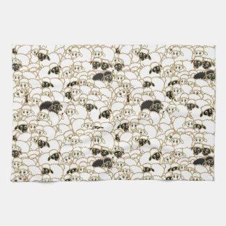 flock of sheep kitchen towel
