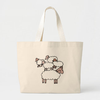 flock of sheep tote bags