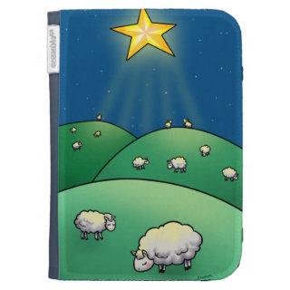 Flock of Sheep under Christmas Star Kindle Keyboard Case