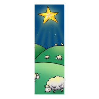 Flock of Sheep under Christmas Star Mini Business Card