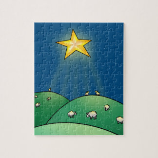 Flock of Sheep under Christmas Star Puzzles