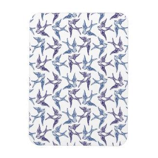 Flock of Sketched Birds Magnet