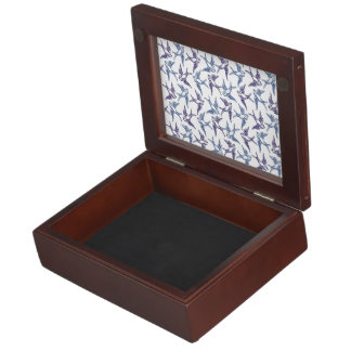 Flock of Sketched Birds Memory Box