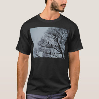 Flock of Vultures in a winter tree T-Shirt
