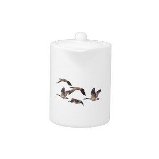 Flock of wild geese teapot