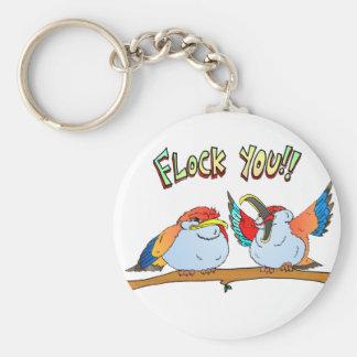 Flock You!! Keychain