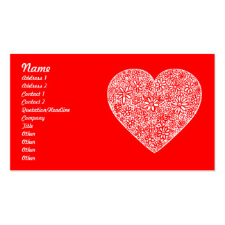 Flocked Heart - Customized Business Cards