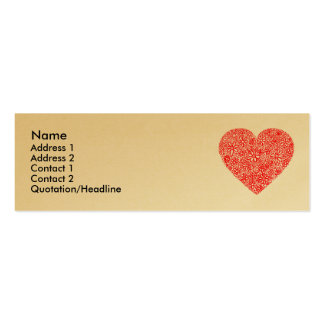 Flocked Heart - Gold Business Cards